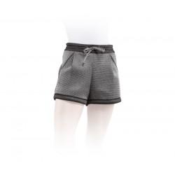 Short court en mesh 3D argenté   Noir et Argent